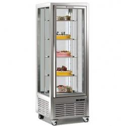 Vitrina frigorifica de cofetarie Tecfrigo DIVA 450 R, capacitate 450 l, 1 zona temperatura +4°/+10°C, argintiu