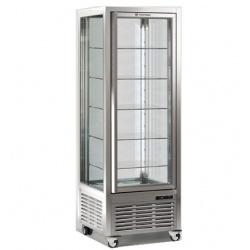 Vitrina frigorifica de cofetarie Tecfrigo DIVA 450 Q, capacitate 450 l, 1 zona temperatura +4°/+10°C, argintiu