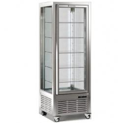 Vitrina frigorifica de cofetarie Tecfrigo DIVA 450 G, capacitate 450 Q CIOCCO, 1 zona temperatura +14/+16°C, argintiu