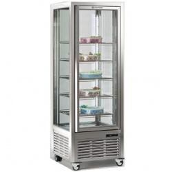 Vitrina frigorifica de cofetarie Tecfrigo DIVA 450 G, capacitate 450 l, 1 zona temperatura +4°/+10°C, argintiu