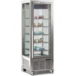 Vitrina frigorifica de cofetarie Tecfrigo DIVA 450 BTV, capacitate 450 l, 1 zona temperatura -15/-21°C, argintiu