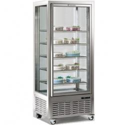 Vitrina frigorifica de cofetarie Tecfrigo DIVA 550 G, capacitate 550 l, 1 zona temperatura +4°/+10°C, argintiu