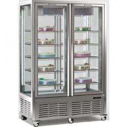 Vitrina frigorifica de cofetarie Tecfrigo DIVA 900 BTV BIS VU, capacitate 800 l, temperatura +5/-18°C, argintiu
