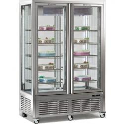 Vitrina frigorifica de cofetarie Tecfrigo DIVA 900 BTV VU, capacitate 800 l, temperatura -15/-21°C, argintiu