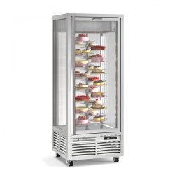 Vitrina frigorifica de cofetarie Tecfrigo Melanie 26 R, capacitate 550 l, temperatura +4/+10°C, argintiu