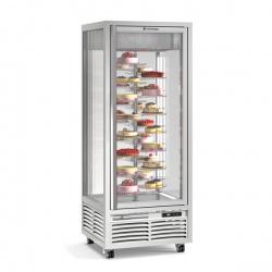 Vitrina frigorifica de cofetarie Tecfrigo Melanie 26 RBT BIS, capacitate 550 l, temperatura +5/-18°C, argintiu