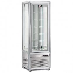 Vitrina frigorifica de cofetarie Tecfrigo Snelle 351 R Cioccolato, capacitate 350 l, temperatura +14/+16°C, argintiu
