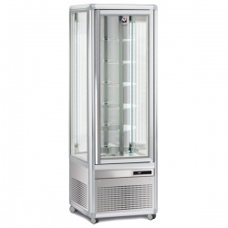 Vitrina frigorifica de cofetarie Tecfrigo Snelle 351 RBT BIS, capacitate 350 l, temperatura +5/-18°C, argintiu