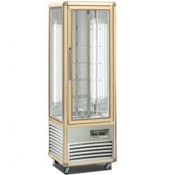Vitrina frigorifica de cofetarie Tecfrigo Snelle 350 R, capacitate 350 l, temperatura +4/+10°C, argintiu/auriu
