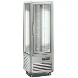 Vitrina frigorifica de cofetarie Tecfrigo Snelle 350 R Cioccolato, capacitate 350 l, temperatura +14/+16°C, argintiu