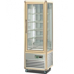 Vitrina frigorifica de cofetarie Tecfrigo Snelle 350 G, capacitate 350 l, temperatura +4/+10°C, argintiu/auriu