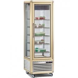 Vitrina frigorifica de cofetarie Tecfrigo Snelle 400 BTV, capacitate 350 l, temperatura -10/-21°C, argintiu