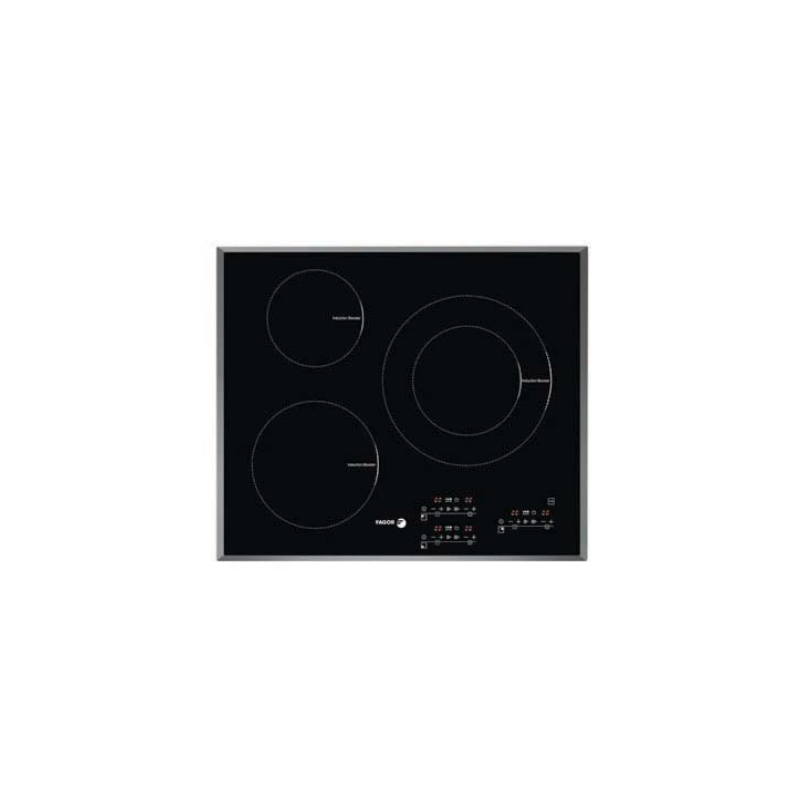 Plita cu inductie Fagor IF-33CX, 7200 W, 3 zone de gatit, negru
