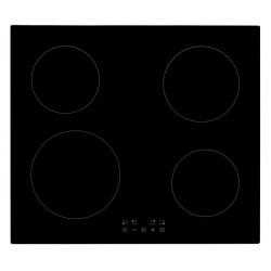 Plita incorporata cu inductie Exquisit EKI 703-1, 9 niveluri de putere, Sticla neagra