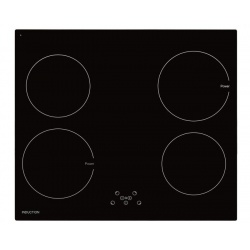 Plita incorporata cu inductie Exquisit EKI 701-5, 60 cm, 9 niveluri de putere, Sticla neagra