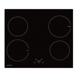 Plita incorporata cu inductie Exquisit EKI 701-5, 9 niveluri de putere, Sticla neagra
