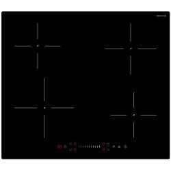 Plita incorporata cu inductie Exquisit EKI 602-19 S, 9 niveluri de putere, Sticla neagra