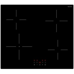 Plita incorporata cu inductie Exquisit EKI 600-19, 60 cm, 9 niveluri de putere, Sticla neagra