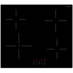 Plita incorporata cu inductie Exquisit EKI 600-19, 9 niveluri de putere, Sticla neagra