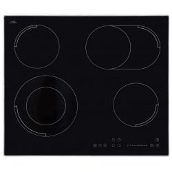 Plita incorporata cu inductie Exquisit EKC 630-3.1 RBZ, 60 cm, 9 niveluri de putere, Sticla neagra