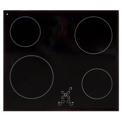 Plita incorporata cu inductie Exquisit EKC 601-8, 60 cm, 9 niveluri de putere, Sticla neagra