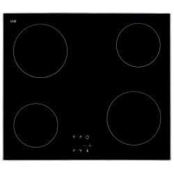 Plita incorporata cu inductie Exquisit EKC 601-1 R, 60 cm, 9 niveluri de putere, Sticla neagra