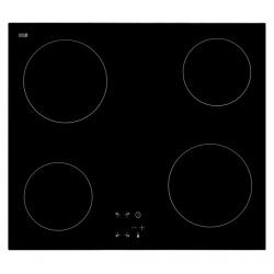 Plita incorporata cu inductie Exquisit EKC 601-1, 60 cm, 9 niveluri de putere, Sticla neagra