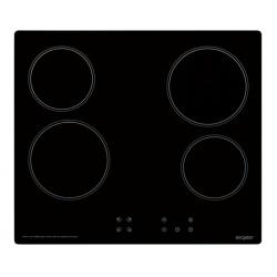 Plita incorporata cu inductie Exquisit EKC 601-2.2, 60 cm, 9 niveluri de putere, Sticla neagra