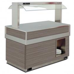 Vitrina frigorifica rece FUTURA BRINA 6, temperatura -1/0C, lemn pin