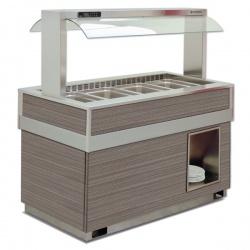 Vitrina frigorifica calda FUTURA 6 BM, temperatura + 30 / + 90C, lemn pin