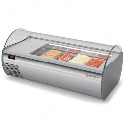 Vitrina frigorifica expunere ingrediente Tecfrigo MICROGEL 4 GN, temperatura +2/+8 °C, argintiu