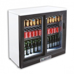 Vitrina frigorifica bauturi Tecfrigo C 21 GSS, capacitate 202 l, temperatura +2/+8º C, alb/negru