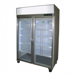 Vitrina frigorifica Tecfrigo ARTICA 1180 NT, cu caseta luminoasa, capacitate 1180 L, temperatura -18/-24º C, inox