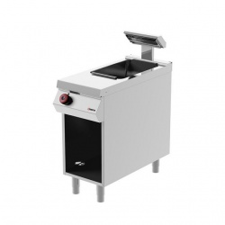 Aparat electric Desco Italia CCE91M00, mentinere cartofi calzi, cu suport deschis