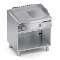 Grill dublu electric , Ata Italia C2EFR10TT , seria 700 cu suprafata neteda/ striata si suport deschis