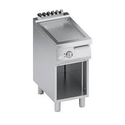 Grill simplu electric , Ata Italia K7EFB05VVR, seria 700 cu suprafata striata si suport deschis