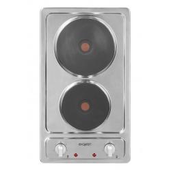 Plita incorporata Exquisit EMS 301-2, 30 cm, 6 niveluri de putere, inox