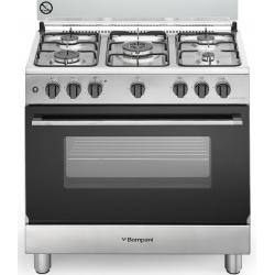 Aragaz Bompani Diva BO853EG/N, 80x50 cm, plita gaz, 5 arzatoare, aprindere electronica, grill, inox