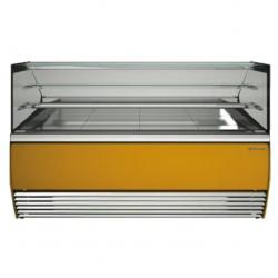 Vitrina frigorifica inghetata Tecfrigo Alba 1100 VDB, putere 660W, temperatura +2/+4ºC, galben
