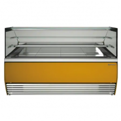 Vitrina frigorifica inghetata Tecfrigo Alba 1600 VDB, putere 850W, temperatura +2/+4ºC, galben