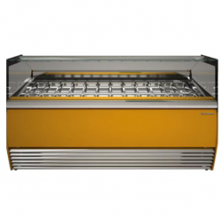 Vitrina frigorifica inghetata Tecfrigo Alba 24 VD, putere 2500W, temperatura -16/-18ºC, galben