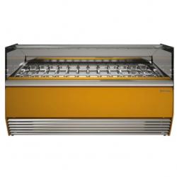 Vitrina frigorifica inghetata Tecfrigo Alba 18 VDB, putere 2080W, temperatura -16/-18ºC, galben