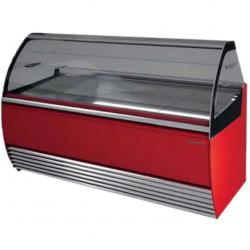 Vitrina frigorifica inghetata Tecfrigo Aurora 1600 VC, putere 850W, temperatura +2/+4ºC, rosu