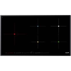 Plita FosterS4000 INDUCTION BRIDGE 7390 245, 90 cm , 5 zone de gatit, touch control,, sticla neagra