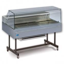 Vitrina frigorifica de expunere Tecfrigo COIBA 140 COLD GN VD, putere 270W, temperatura -1/+6°C, inox