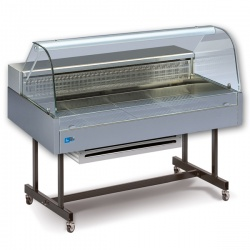 Vitrina frigorifica de expunere Tecfrigo COIBA 140 COLD GN, putere 270W, temperatura -1/+6°C, inox