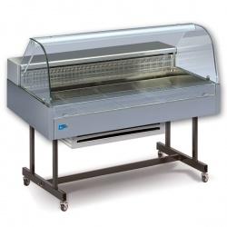 Vitrina frigorifica de expunere Tecfrigo COIBA 110 COLD GN, putere 270W, temperatura -1/+6°C, inox
