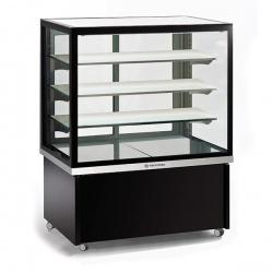 Vitrina frigorifica calda, Tecfrigo KARINA 97 HOT, putere 1550W, temperatura +60/+80°C, negru/argintiu