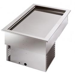 Unitate frigorifica incorporabila Tecfrigo ARMONIA 64/3, putere 550 W, temperatura +4/+10 ºC, argintiu
