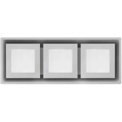 Hota de tavan Foster TRIO 2536 000, 93x34cm, 850 m³/h, motor 2x160W, sticlas alba/inox satinat